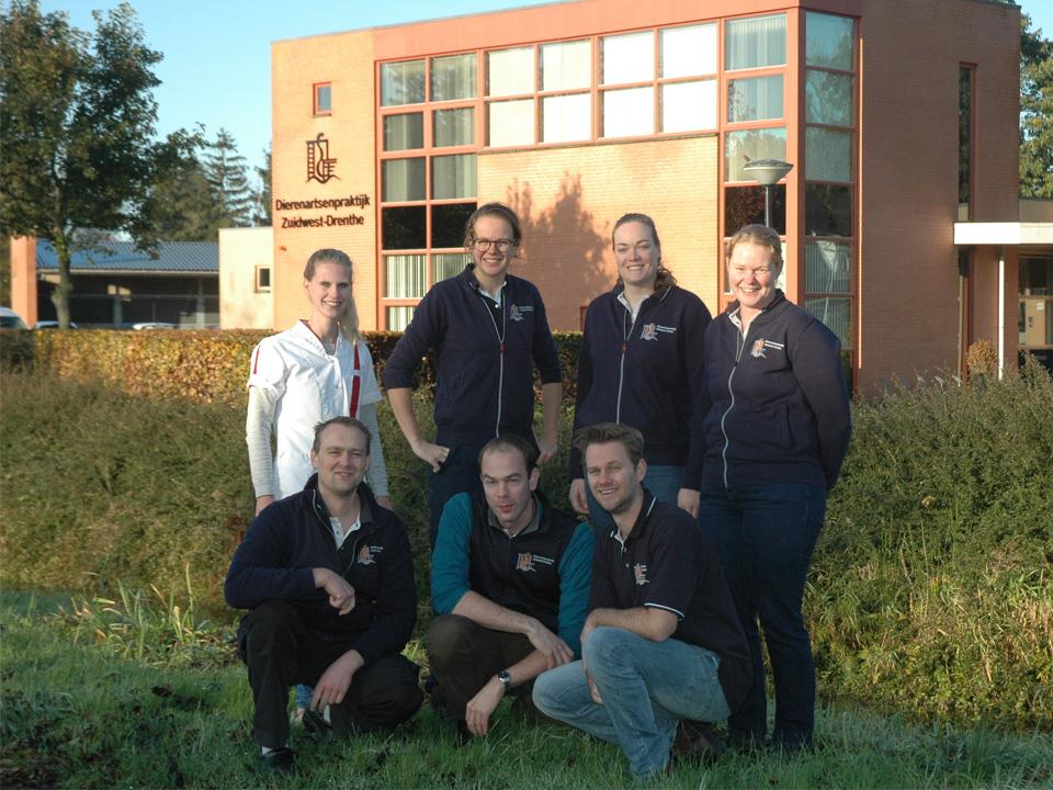 Teamfoto LHD 2019 Dierenartsenpraktijk Zuidwest-Drenthe